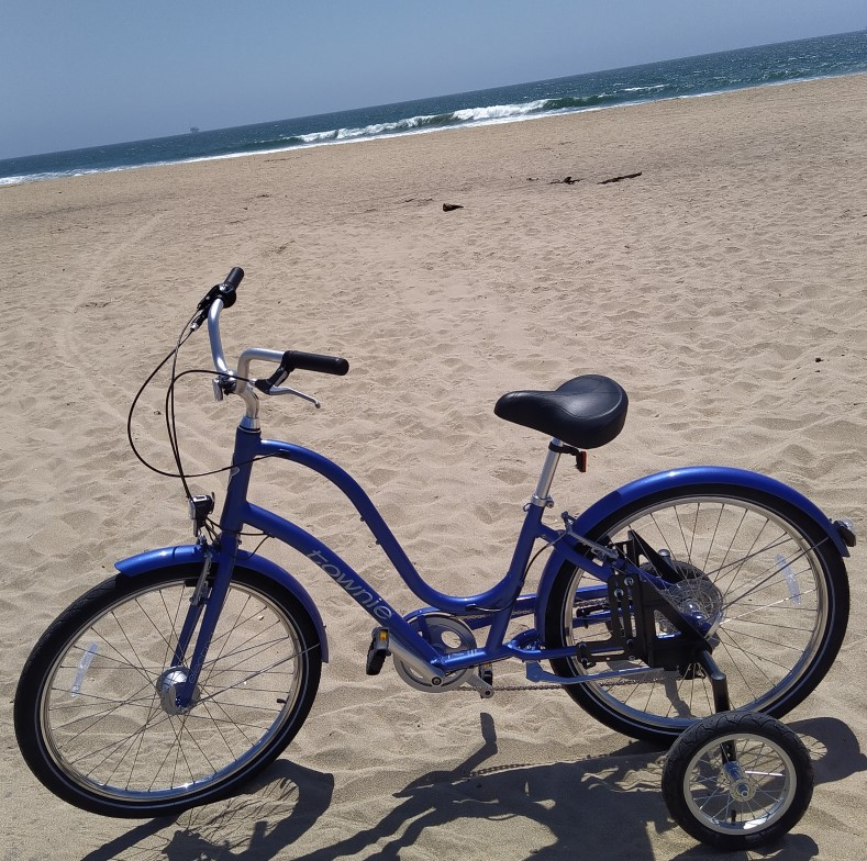 2021, May 3, Electra on the shore of Bolsa Chica State Beach.